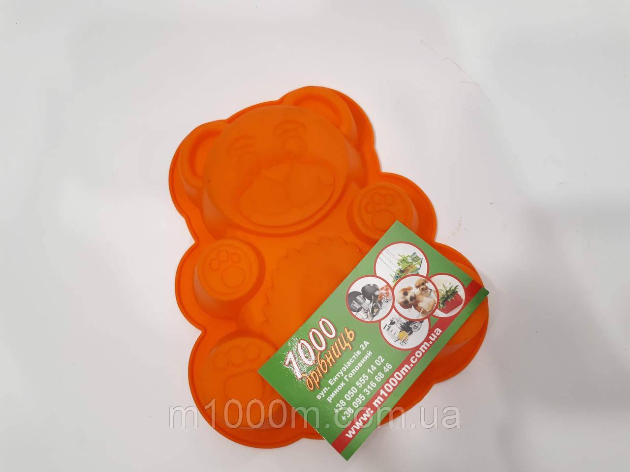 Форма для выпечки силиконовая Мишка мал. (1)