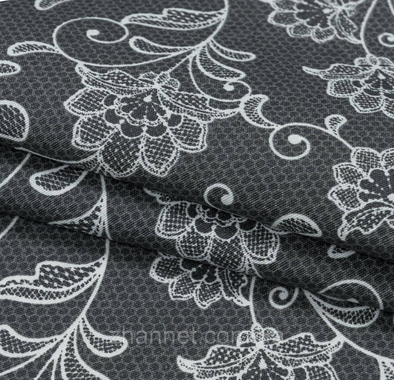 Ткань для скатерти с акриловой пропиткой Dupre темно-серый 140 см (189051)
