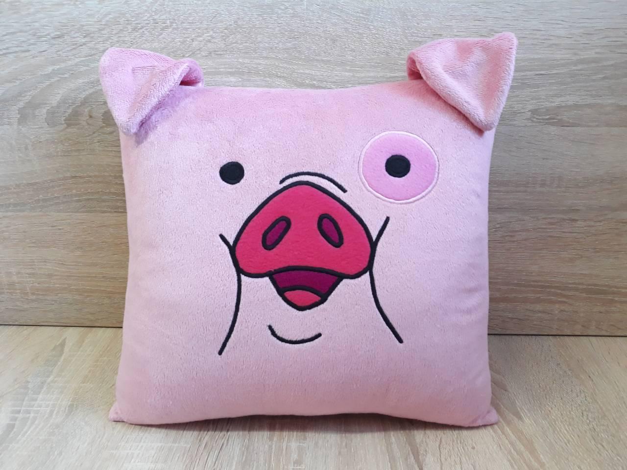 Декоративная подушка свинка Пухля (Вадлс) из Гравити Фолз, ручная работа