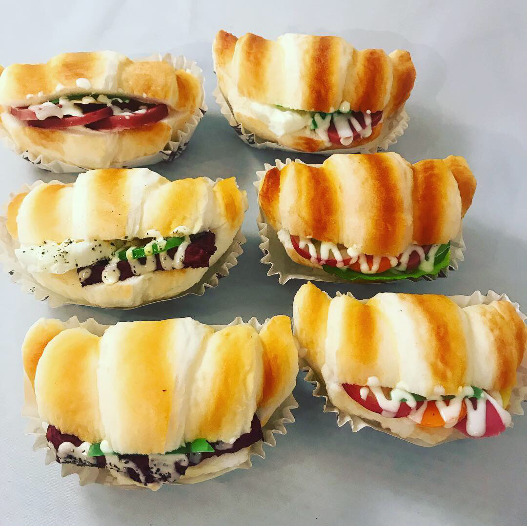 Муляжи хлебобулочных изделий.Муляж бутерброда .