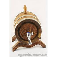 Бочка деревянная из дуба с нержавеющим краником (10 л.)