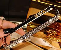 Серебряный метал. бампер с камнями для iPhone 5/5s Fashion Snake , фото 1