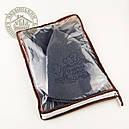 """Подарочный набор для сауны """"С легким паром"""" (серый), фетр, фото 3"""