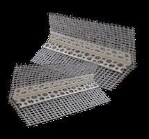 Профиль угловой ПВХ с сеткой белый 3м