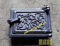 Дверка чугунная сажетруска прочистная (100х140) печи, барбекю, фото 1