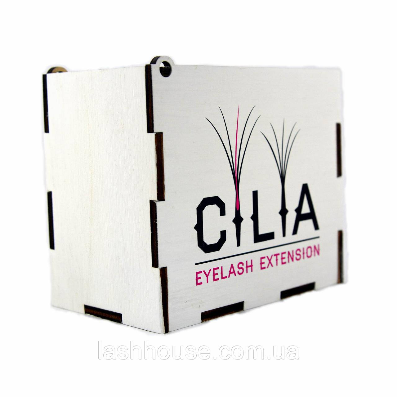 LashBox Для Ресниц Cilia [WHITE] (Лэшбокс С 5 Планшетками)