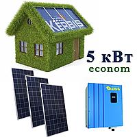 """Мережева сонячна електростанція 5 кВт """"econom""""  під """"ключ"""""""