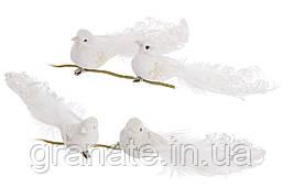 Декоративные птицы Голуби 18см, цвет: белый (12шт)