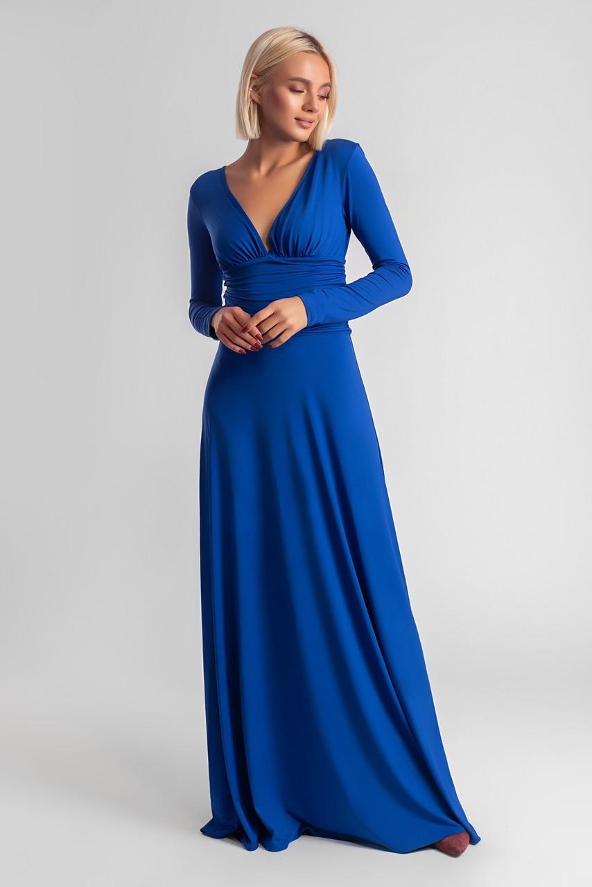 daec671085d7837 Платье в пол / трикотаж масло / Украина 34-447 - Магазин женской одежды