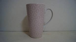 Чашка керамічна рожева