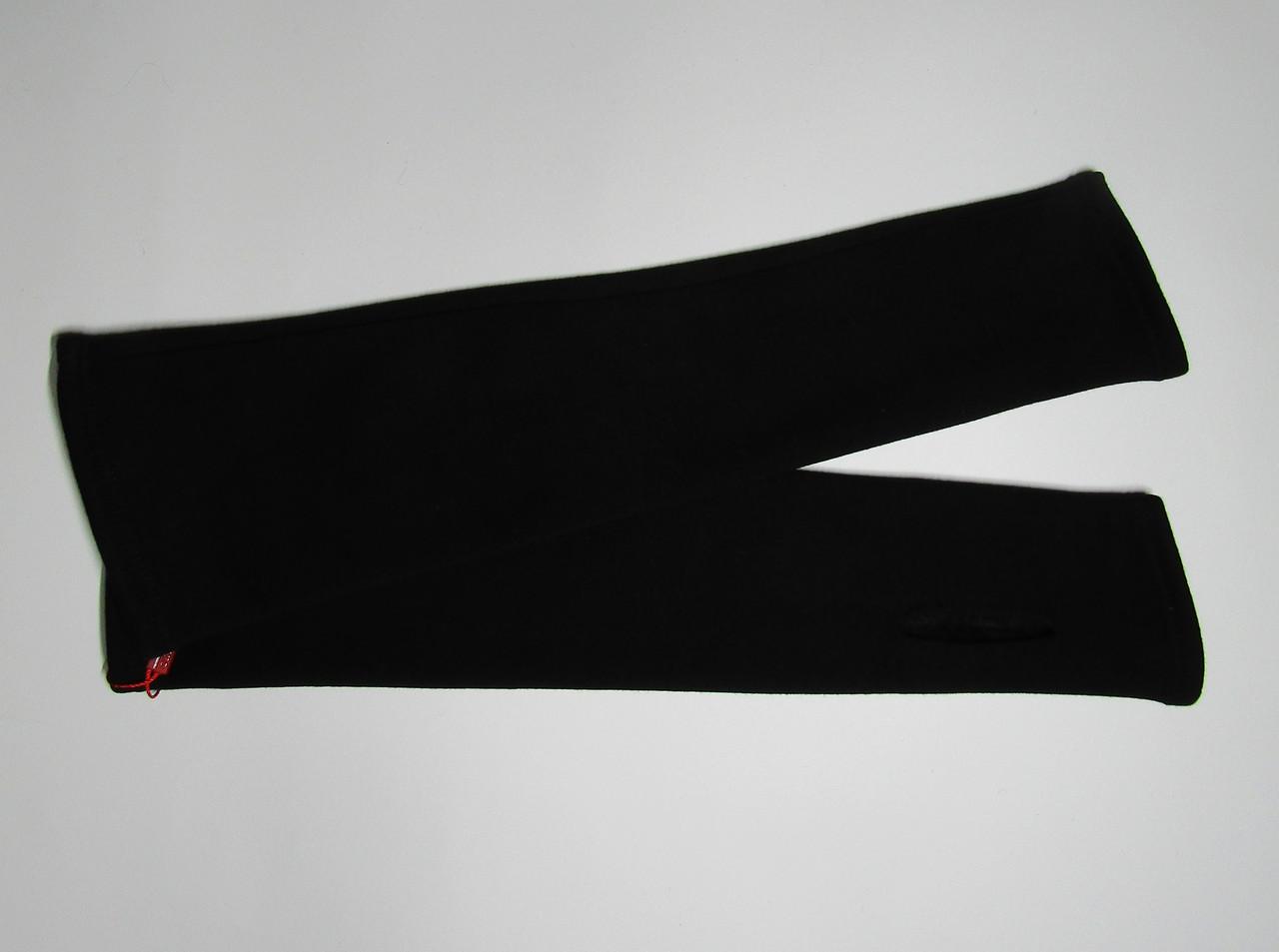 Женские черные зимние митенки до локтя