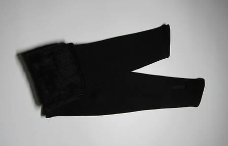 Женские черные зимние митенки до локтя, фото 2