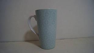 Чашка керамічна блакитна