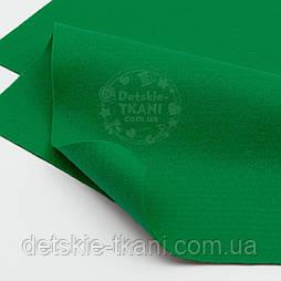Мягкий листовой фетр зелёного цвета 20*30 см (ФМ-22)