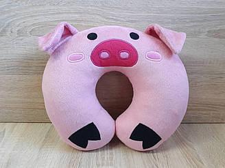 Автомобильная подушка подголовник свинка Пухля (Вадлс) из Гравити Фолз, ручная работа
