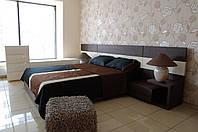 """Спальня в современном стиле """"Венге"""". Материал МДФ шпонированый, МДФ матовый"""