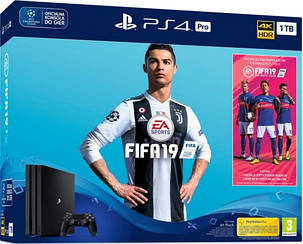 консоли Playstation 4 Pro 1TB + Fifa 19 + PS