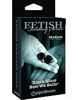 Стеклянные вагинальные шарики размера M Limited Edition Black Glass Balls