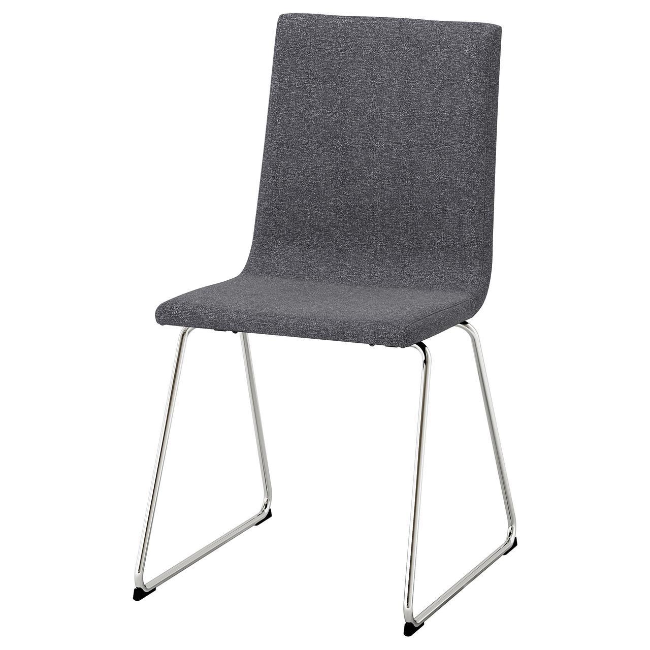 Кресло кухонное IKEA VOLFGANG Gunnared серое 804.046.72