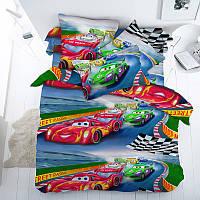 Гонки, подростковое постельное белье с тачками для мальчиков (бязь, 100% хлопок)