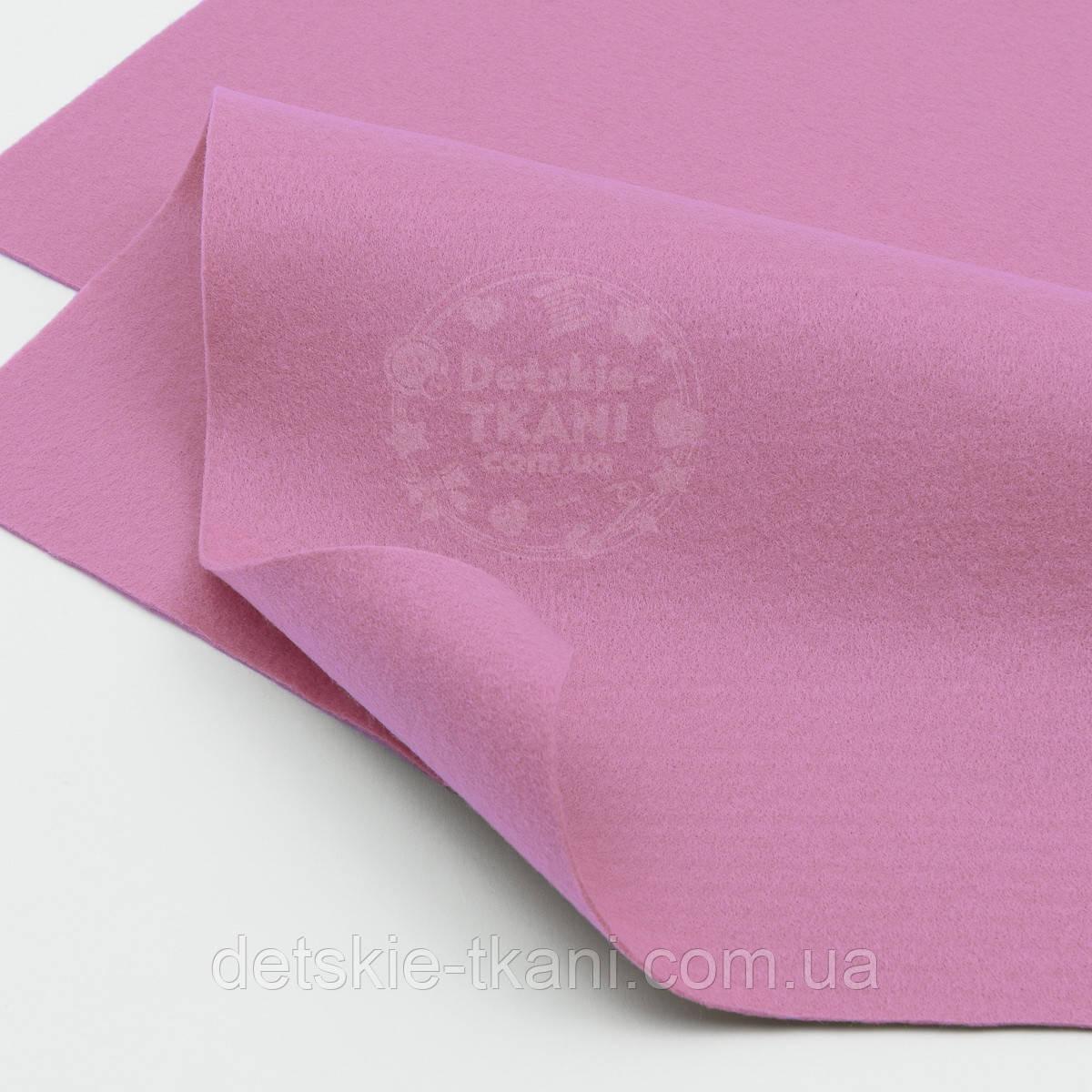 Мягкий листовой фетр светло-сиреневого цвета 20*30 см (ФМ-16)