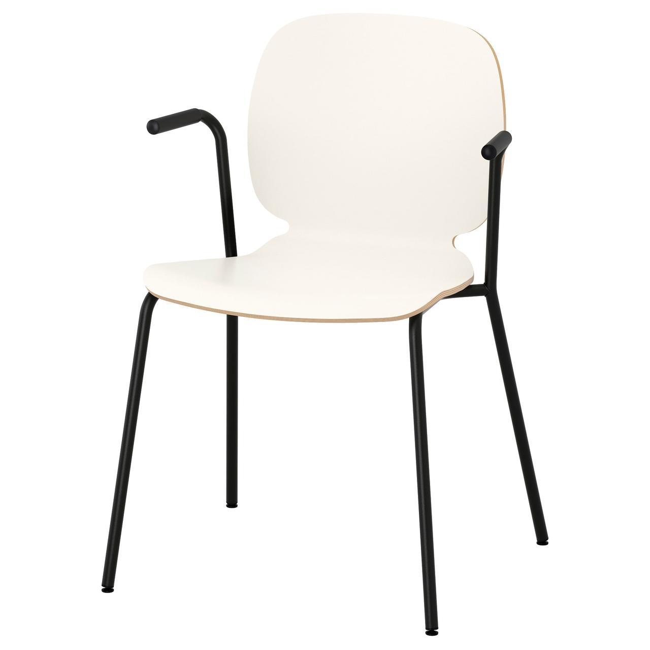 Кресло кухонное IKEA SVENBERTIL Dietmar белое черное 391.977.03
