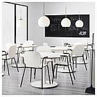 Кресло кухонное IKEA SVENBERTIL Dietmar белое черное 391.977.03, фото 5