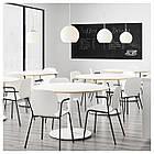 Кресло кухонное IKEA SVENBERTIL Dietmar белое черное 391.977.03, фото 6