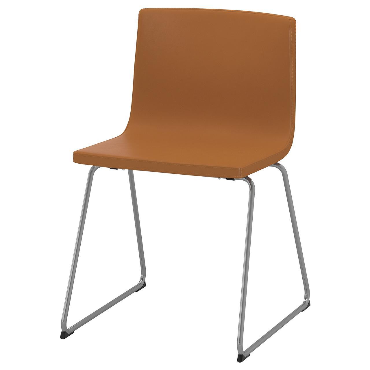 Кресло кухонное IKEA BERNHARD Mjuk коричневое 504.048.24