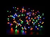 Гирлянда 100 led светодиодная длина 8 метров золотая (разноцветная RGB) с контроллером 8 режимов +удлинитель, фото 1