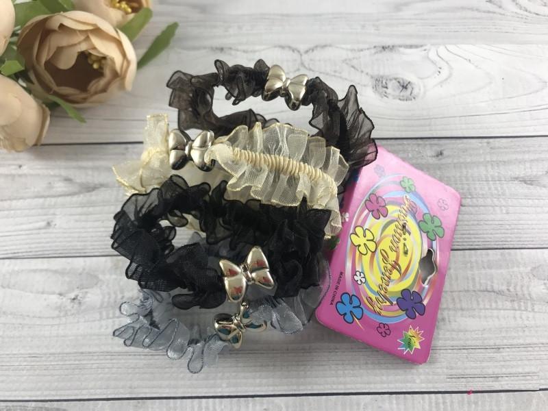 Набор шифоновых резинок 3-х цветов