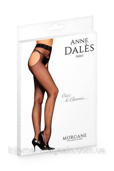 Чулки с поясом Anne De Ales MORGANE T4 Black