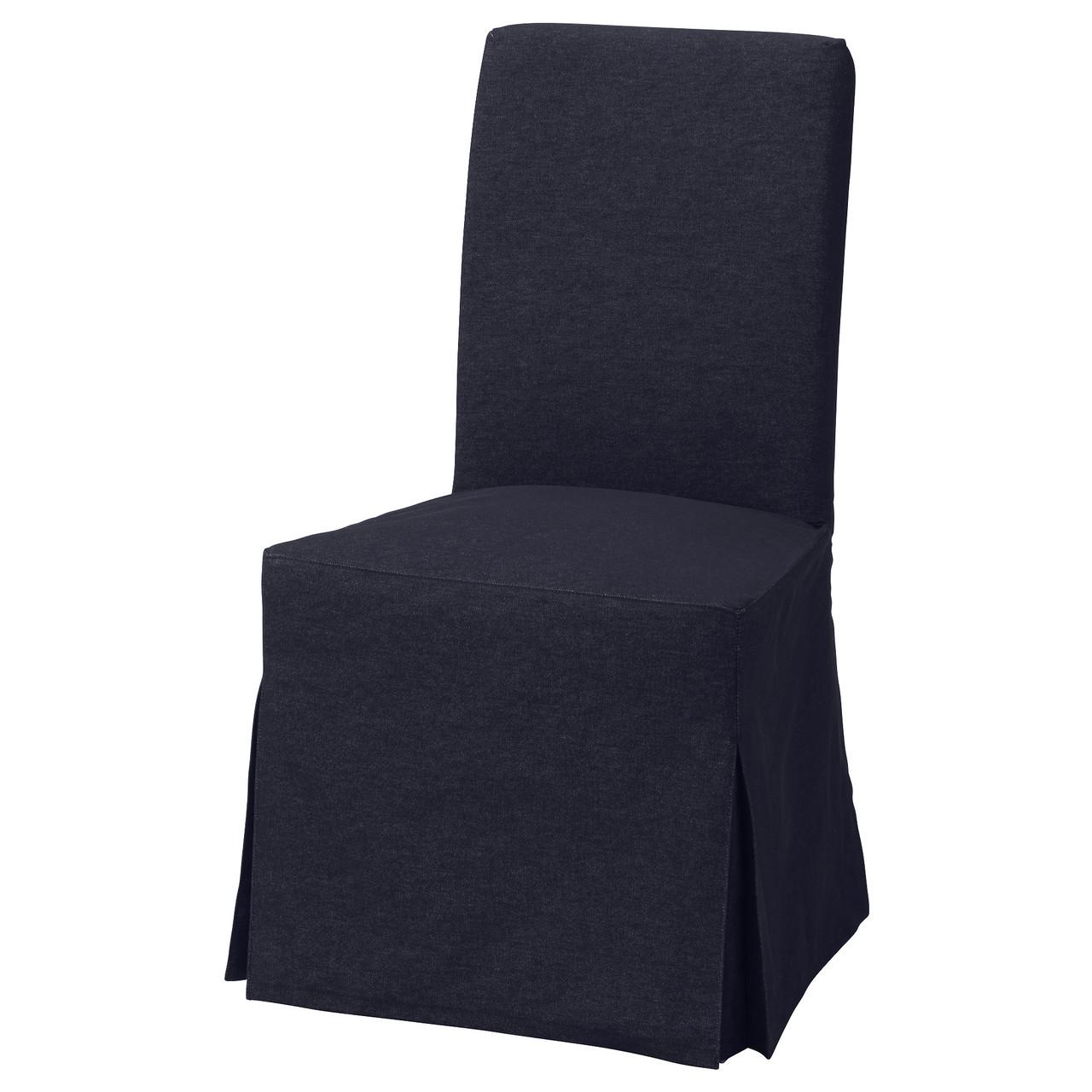 Кресло кухонное IKEA HENRIKSDAL Vansta береза темно-синее 792.463.20
