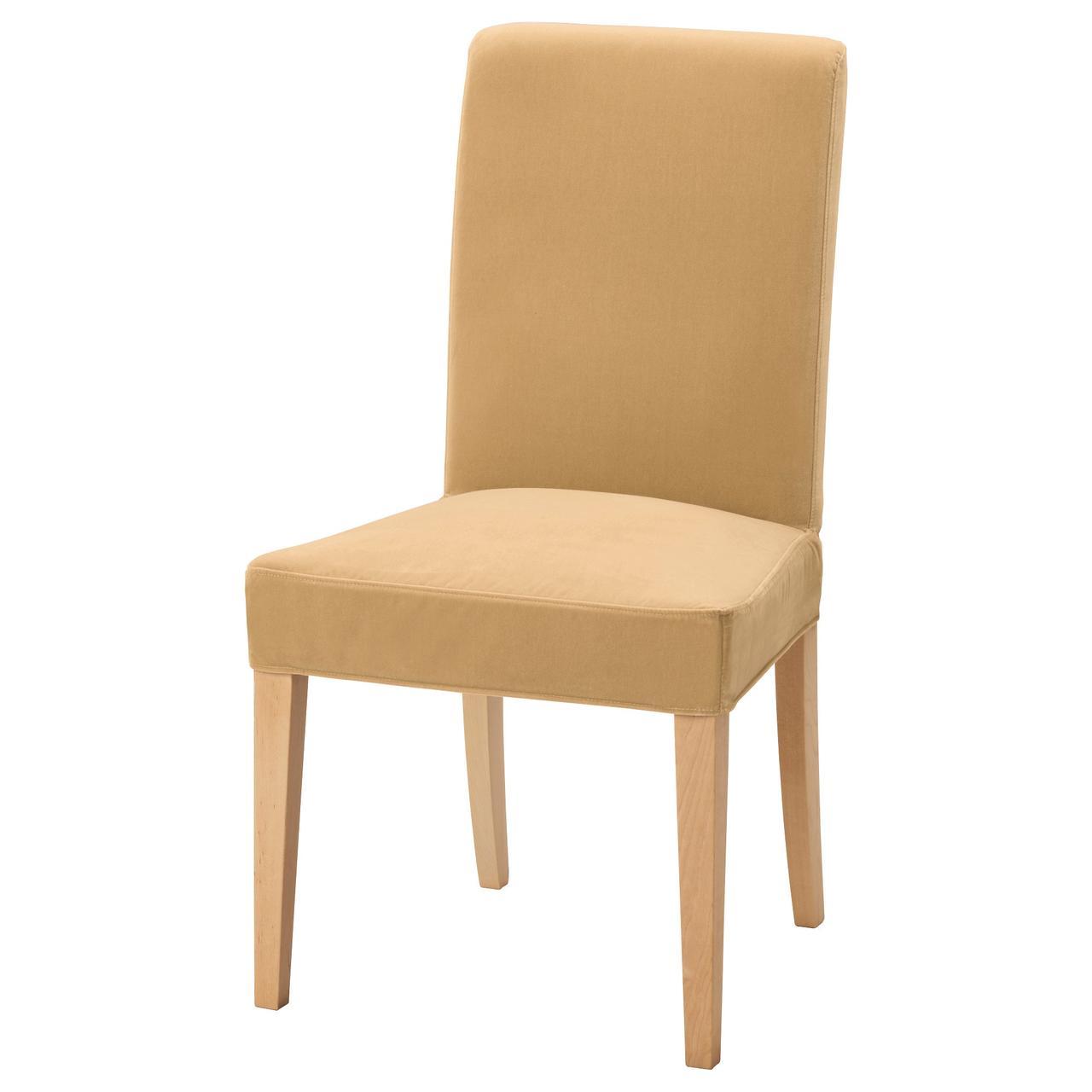 Кресло кухонное IKEA HENRIKSDAL Djuparp желто-бежевое 192.463.42