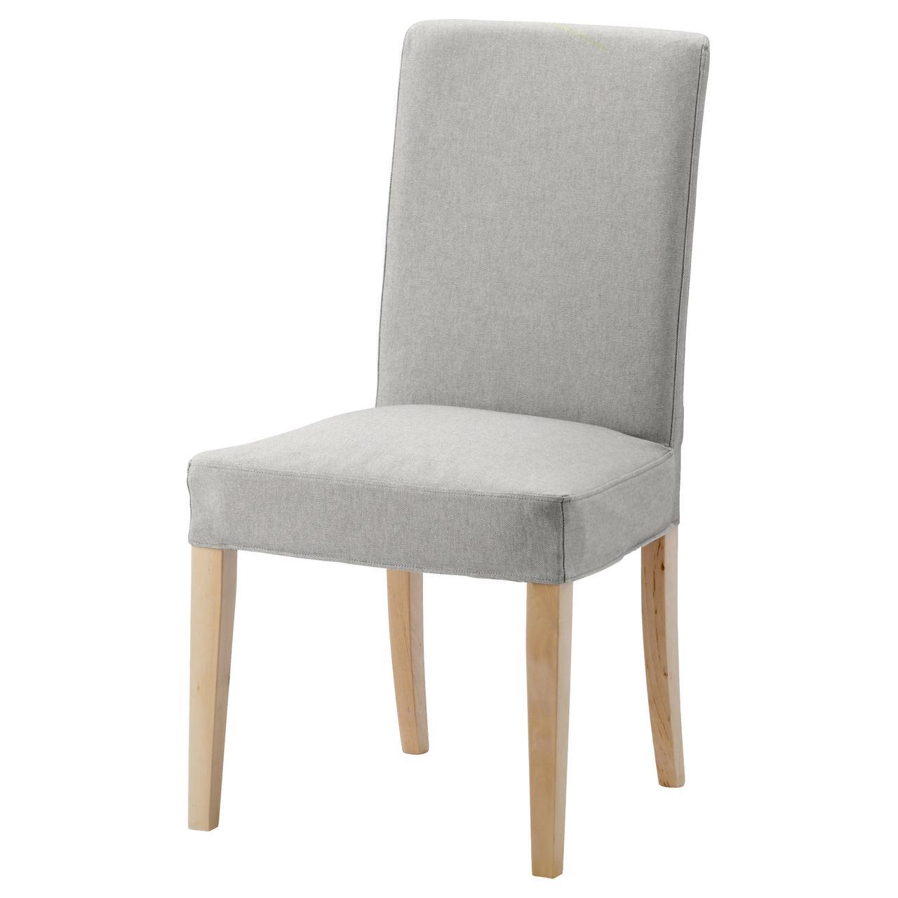 Кресло кухонное IKEA HENRIKSDAL Orrsta береза светло-серое 091.900.48
