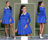 Изящное коттоновое платье с кружевным воротником, фото 1