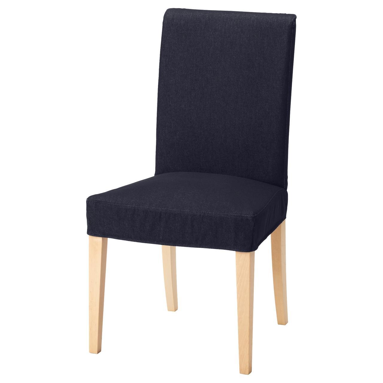 Кресло кухонное IKEA HENRIKSDAL Vansta береза темно-синее 992.463.19