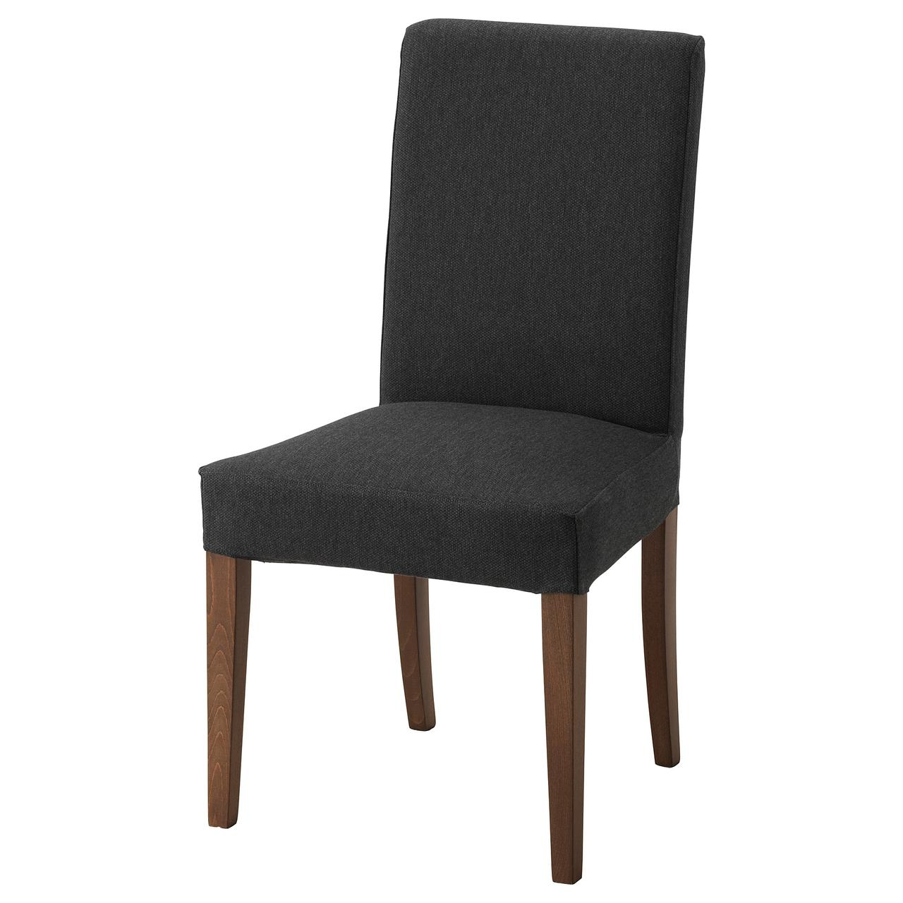 Кресло кухонное IKEA HENRIKSDAL Dansbo коричневое темно-серое 692.203.54