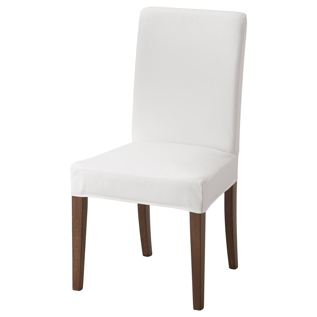 Кресло кухонное IKEA HENRIKSDAL Gräsbo коричневое белое 792.202.83