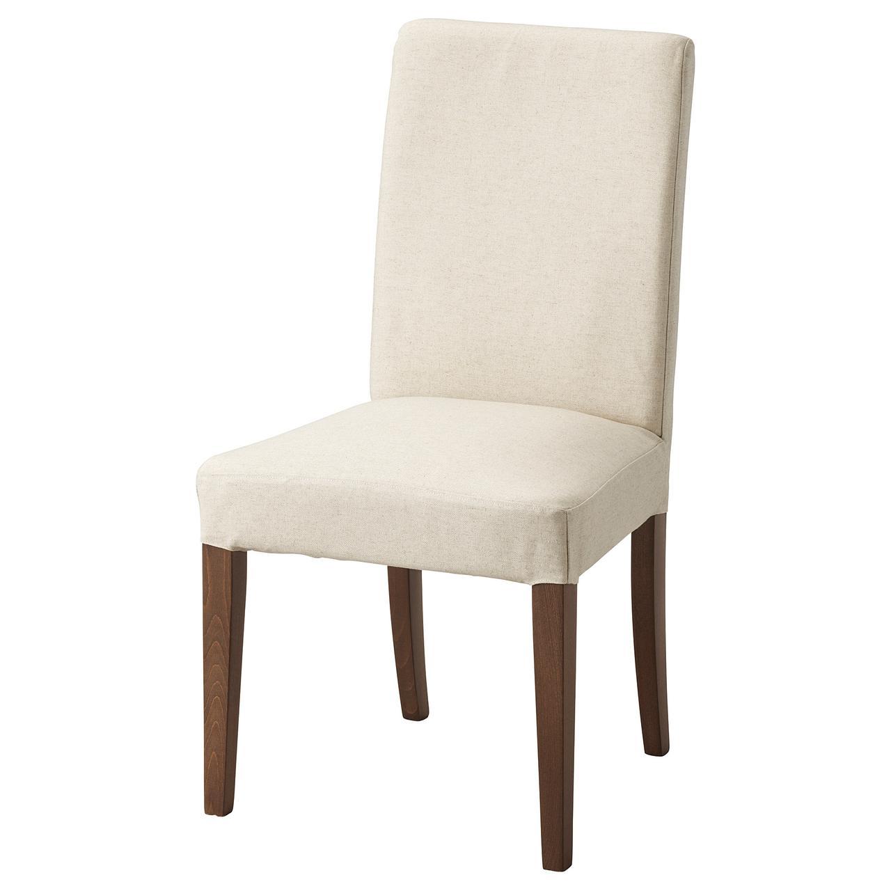 Кресло кухонное IKEA HENRIKSDAL Linneryd коричневое светло-бежевое 092.208.18