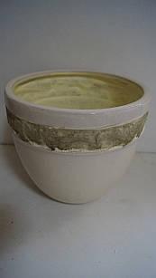 Кашпо горшок для цветов декоративный керамический бежевый