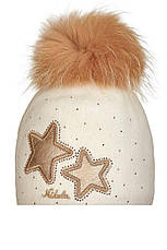 Яркая детская шапочка из валяной шерсти со звездами, Польша, фото 2