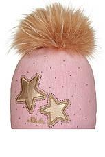 Яркая детская шапочка из валяной шерсти со звездами, Польша, фото 3