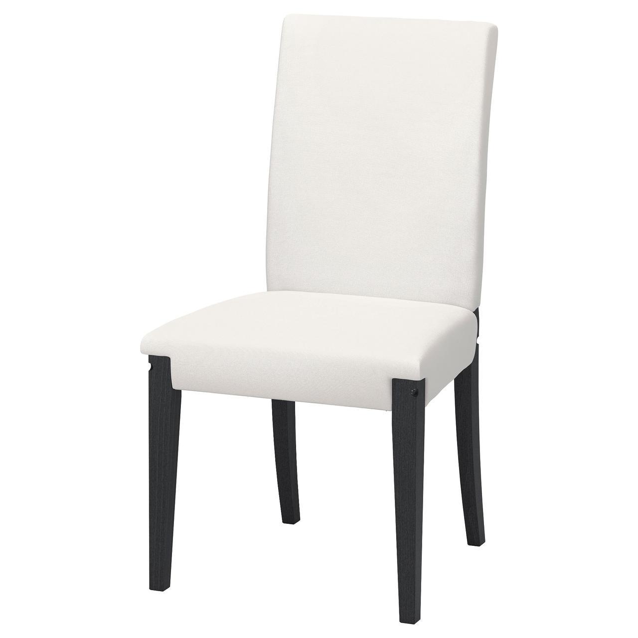Кресло кухонное IKEA HENRIKSDAL черно-коричневое белое 303.610.38