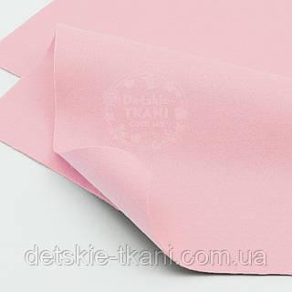 Мягкий листовой фетр светло-розового цвета 20*30 см (ФМ-9)