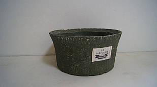 Кашпо горшок для цветов декоративный зелёный