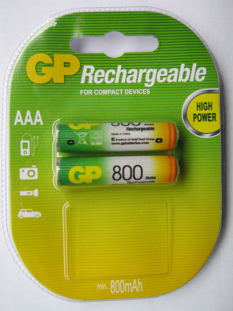 Аккумуляторы GP AAА 800 mAh