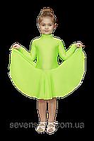 Рейтинговое платье для занятием танцами  салатовое