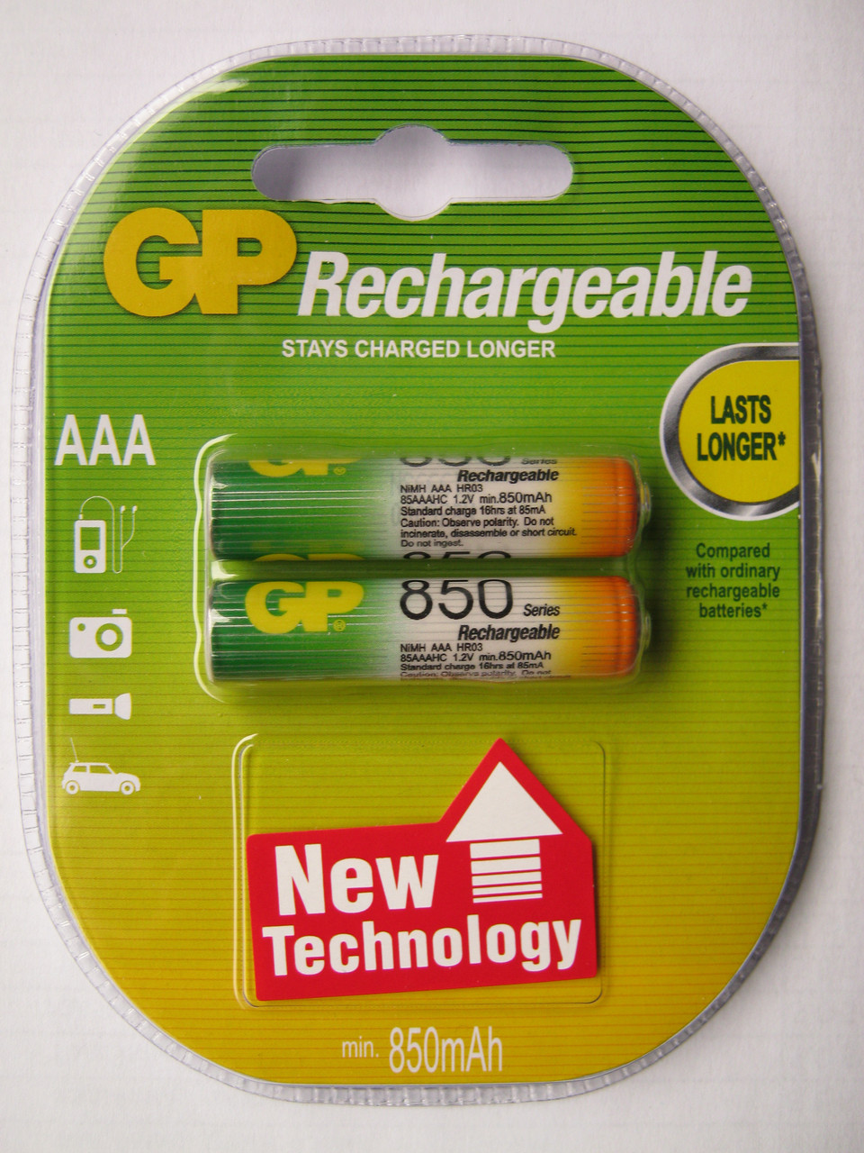 Аккумуляторы GP AAА 850 mAh