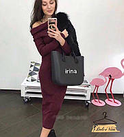 Женское модное платье ангора миди (расцветки), фото 1